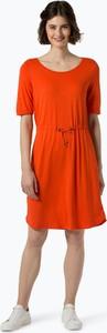 Czerwona sukienka comma, z okrągłym dekoltem