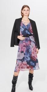 Sukienka Mohito midi prosta z dekoltem w kształcie litery v