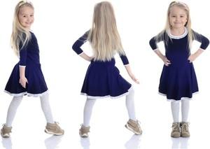 Niebieska sukienka dziewczęca Rennwear z bawełny