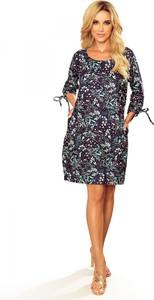 Sukienka Ptakmoda.com z dekoltem w kształcie litery v z długim rękawem dla puszystych