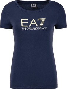 T-shirt EA7 Emporio Armani w stylu casual