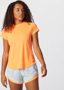 T-shirt New Balance z dresówki z krótkim rękawem