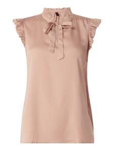 Różowa bluzka Soyaconcept bez rękawów z okrągłym dekoltem