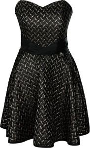 Czarna sukienka Fokus bez rękawów