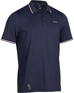 Granatowy t-shirt Artengo z krótkim rękawem