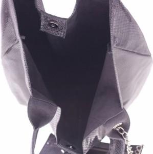 Torebka GENUINE LEATHER w stylu casual ze skóry duża