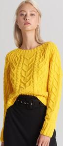 Żółty sweter Cropp