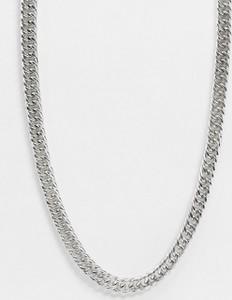 Icon Brand – Gruby naszyjnik-łańcuch w kolorze starego srebra zapinany na sznurek-Srebrny