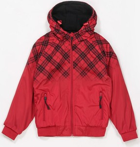 Czerwona kurtka dziecięca born2be w krateczkę