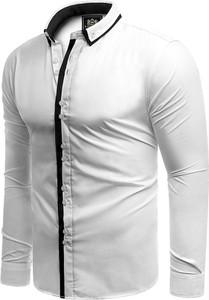 Koszula Risardi z kołnierzykiem button down z bawełny