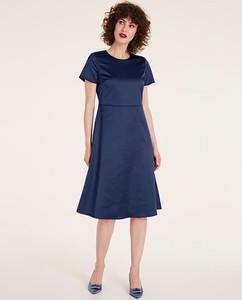 Sukienka Heine midi z krótkim rękawem
