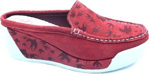 Czerwone klapki Lanqier w stylu casual