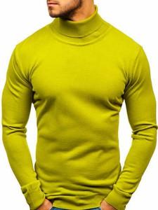 Zielony sweter Denley w stylu casual z bawełny