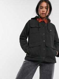 Czarny płaszcz Vans ze sztruksu