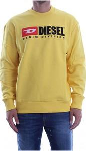 Żółta bluza Diesel z bawełny