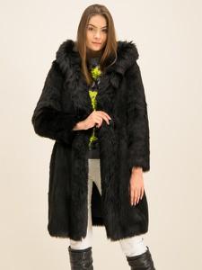 Czarny płaszcz Elisabetta Franchi w stylu casual