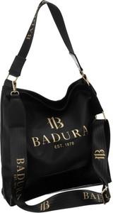 Czarna torebka Badura duża ze skóry ekologicznej