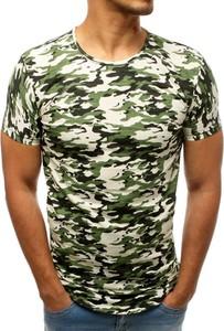 Zielony t-shirt Dstreet w militarnym stylu z krótkim rękawem