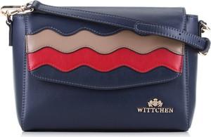 Granatowa torebka Wittchen średnia na ramię ze skóry