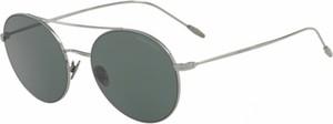 Srebrne okulary damskie Giorgio Armani