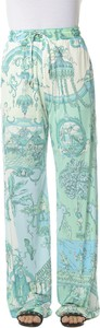 Zielone spodnie Etro w stylu boho
