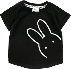 Czarna koszulka dziecięca ilovemilk.pl