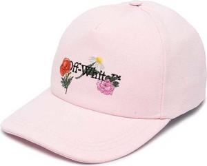 Różowa czapka Off White
