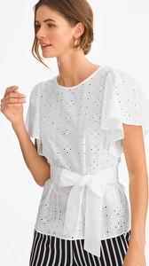 Bluzka Yessica Premium z bawełny z okrągłym dekoltem