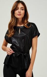 Czarna bluzka Moodo z okrągłym dekoltem