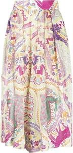 Różowe spodnie Etro