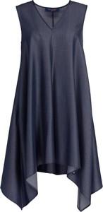Sukienka Trussardi Jeans z dekoltem w kształcie litery v midi