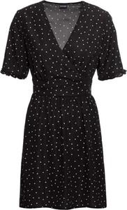 Czarna sukienka bonprix BODYFLIRT w stylu casual z krótkim rękawem