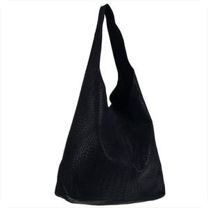 Granatowa torebka Real Leather w stylu glamour duża
