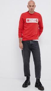 Czerwona bluza Mustang z bawełny