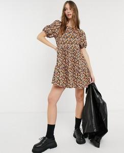 Brązowa sukienka Asos