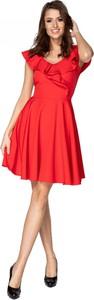 Sukienka Omnido.pl z dekoltem w kształcie litery v