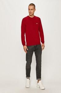 Czerwony sweter Lacoste w stylu casual z dzianiny