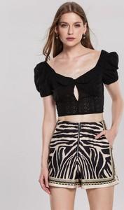 Czarny top Renee w stylu casual