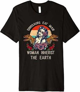 Bluzka Woman Inherits The Earth Shirt Funny z okrągłym dekoltem z krótkim rękawem