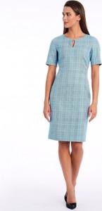 Sukienka POTIS & VERSO prosta z tkaniny w stylu casual