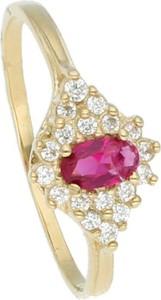 Irbis.style złoty pierścionek z cyrkoniami