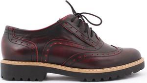 Zapato półbuty - skóra naturalna - model 258 - kolor czarno czerwony