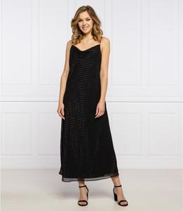 Czarna sukienka Trussardi Jeans maxi