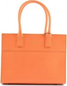 Pomarańczowa torebka Armani Jeans ze skóry