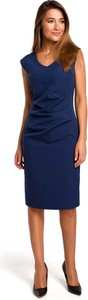 Sukienka MOE midi z dekoltem w kształcie litery v bez rękawów