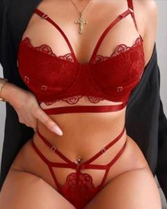 Czerwony komplet bielizny Kendallme