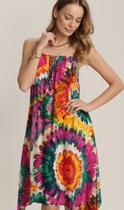 Fioletowa sukienka Renee trapezowa