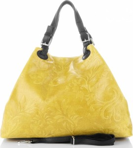 Żółta torebka GENUINE LEATHER