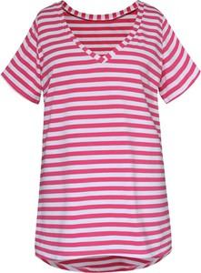 T-shirt Sklep XL-ka z dzianiny z krótkim rękawem z okrągłym dekoltem