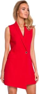 Czerwona sukienka MOE bez rękawów